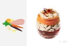 insalata di pollo, carote e agrumi