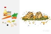 falafel di ceci con senape di carota