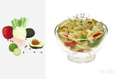insalata di merluzzo cotto in infusione