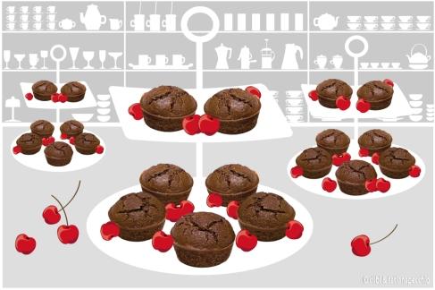 muffin-di-cioccolato-e-ciliegie